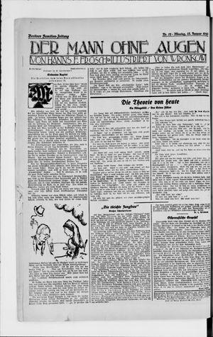 Berliner Volkszeitung vom 15.01.1923