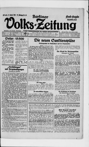 Berliner Volkszeitung vom 17.01.1923