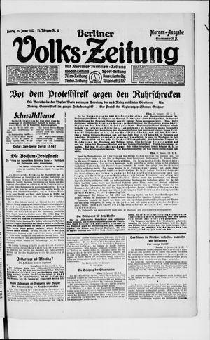 Berliner Volkszeitung vom 21.01.1923