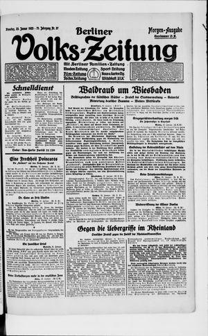 Berliner Volkszeitung vom 23.01.1923