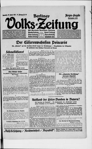 Berliner Volkszeitung vom 27.01.1923
