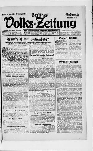 Berliner Volkszeitung vom 30.01.1923