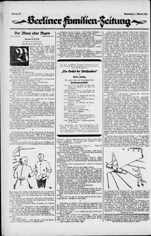 Berliner Volkszeitung on Feb 1, 1923