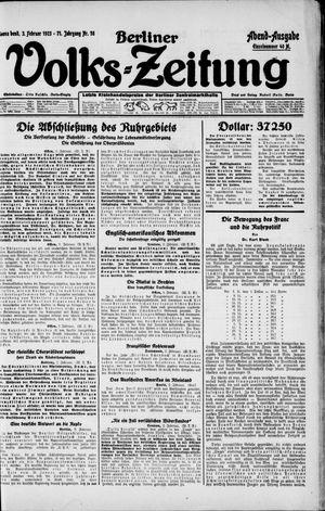 Berliner Volkszeitung on Feb 3, 1923