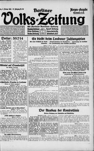 Berliner Volkszeitung vom 04.02.1923