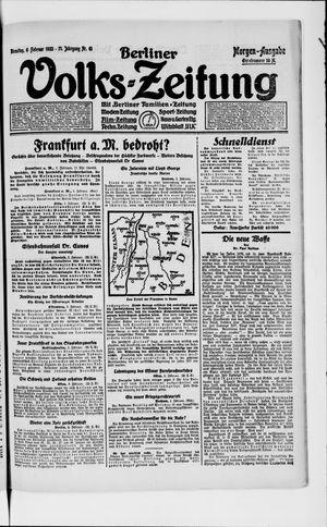 Berliner Volkszeitung vom 06.02.1923