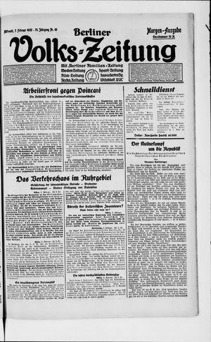 Berliner Volkszeitung vom 07.02.1923