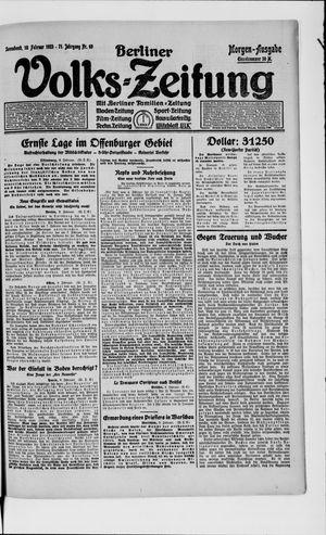 Berliner Volkszeitung vom 10.02.1923