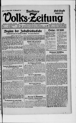 Berliner Volkszeitung on Feb 12, 1923