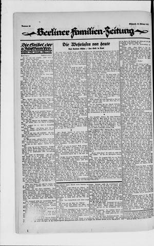 Berliner Volkszeitung vom 14.02.1923