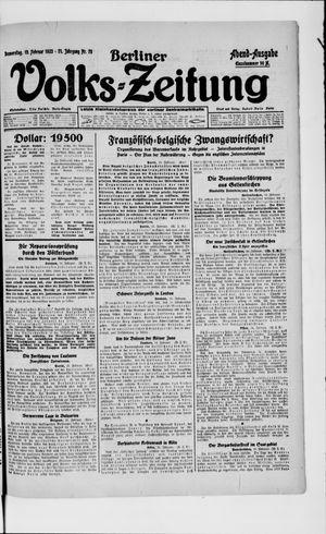 Berliner Volkszeitung vom 15.02.1923
