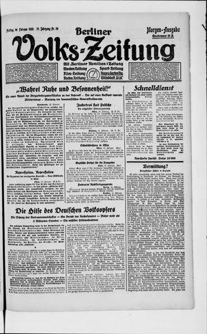 Berliner Volkszeitung on Feb 16, 1923