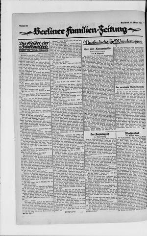 Berliner Volkszeitung vom 17.02.1923