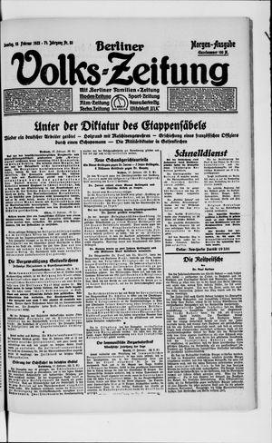 Berliner Volkszeitung vom 18.02.1923