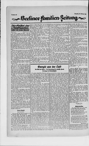 Berliner Volkszeitung vom 20.02.1923
