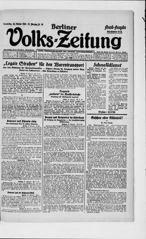 Berliner Volkszeitung vom 22.02.1923