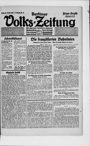 Berliner Volkszeitung vom 23.02.1923