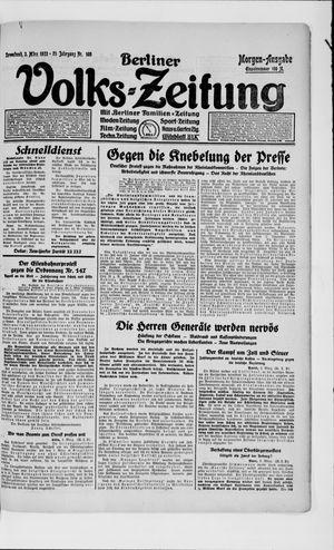 Berliner Volkszeitung on Mar 3, 1923