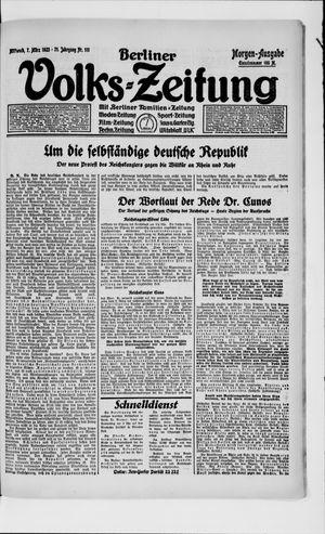 Berliner Volkszeitung vom 07.03.1923