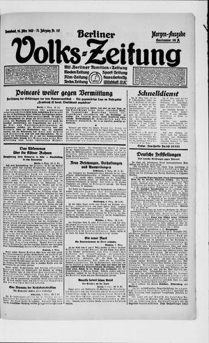 Berliner Volkszeitung vom 10.03.1923