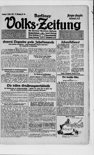 Berliner Volkszeitung vom 11.03.1923