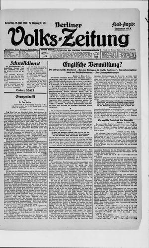 Berliner Volkszeitung vom 15.03.1923