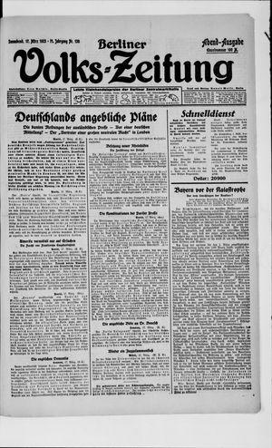 Berliner Volkszeitung vom 17.03.1923