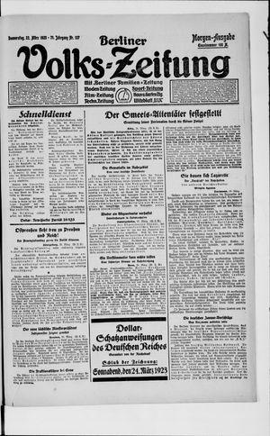 Berliner Volkszeitung vom 22.03.1923