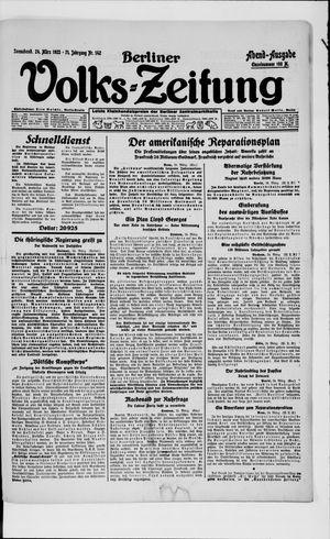 Berliner Volkszeitung vom 24.03.1923
