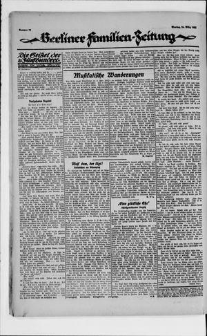 Berliner Volkszeitung vom 26.03.1923