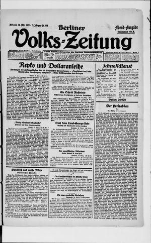 Berliner Volkszeitung vom 28.03.1923