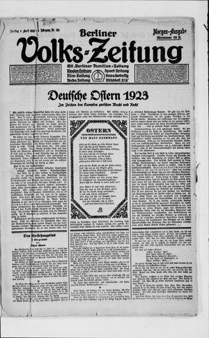 Berliner Volkszeitung vom 01.04.1923