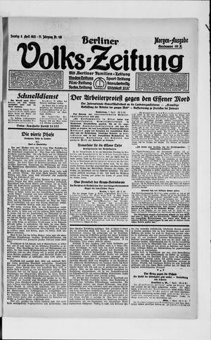 Berliner Volkszeitung vom 08.04.1923