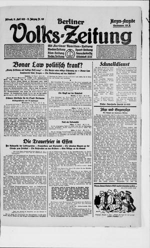 Berliner Volkszeitung vom 11.04.1923