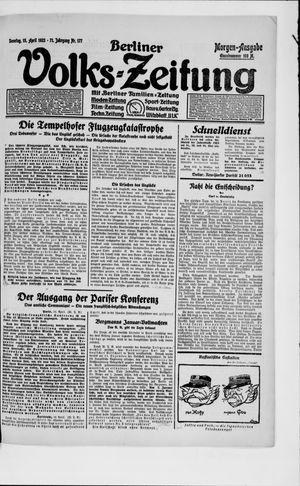 Berliner Volkszeitung on Apr 15, 1923