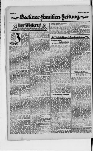 Berliner Volkszeitung vom 16.04.1923