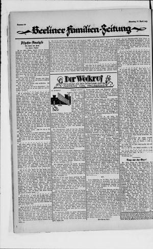 Berliner Volkszeitung vom 17.04.1923