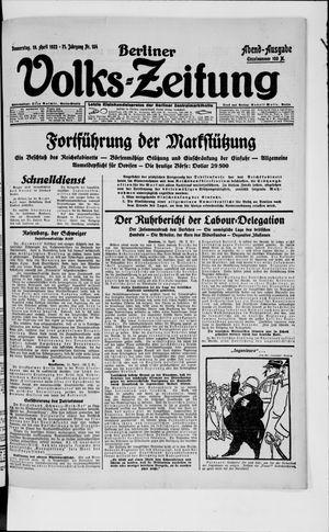 Berliner Volkszeitung vom 19.04.1923