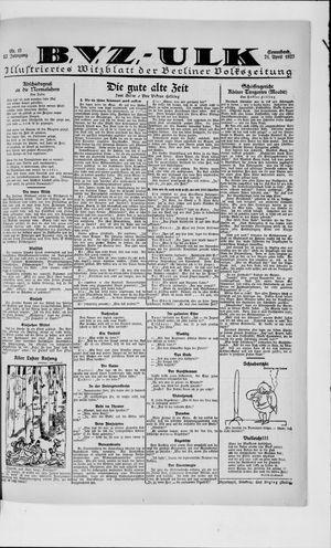 Berliner Volkszeitung vom 21.04.1923