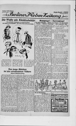 Berliner Volkszeitung vom 22.04.1923