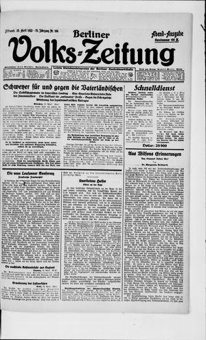 Berliner Volkszeitung vom 25.04.1923