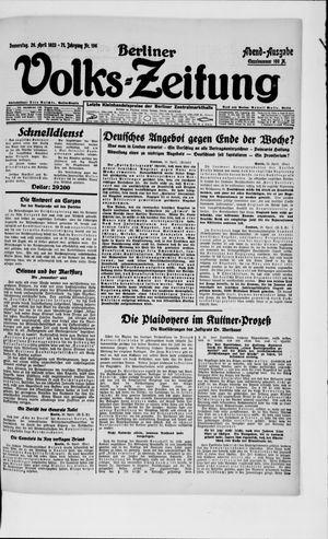 Berliner Volkszeitung vom 26.04.1923
