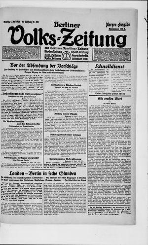 Berliner Volkszeitung vom 01.05.1923