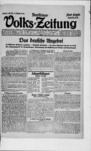 Berliner Volkszeitung vom 02.05.1923