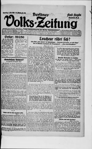Berliner Volkszeitung vom 03.05.1923