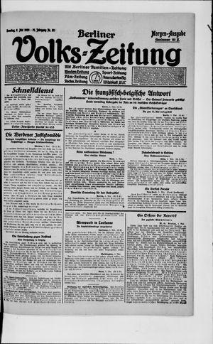 Berliner Volkszeitung vom 06.05.1923