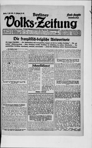 Berliner Volkszeitung vom 07.05.1923