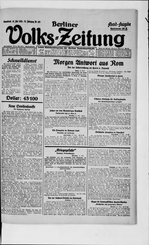 Berliner Volkszeitung on May 12, 1923