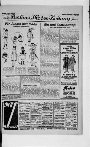 Berliner Volkszeitung vom 13.05.1923