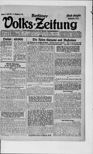 Berliner Volkszeitung vom 14.05.1923